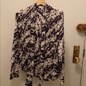 Elizabeth and James silk blouse xs